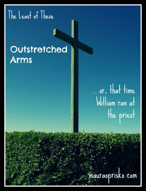 outstretched arms